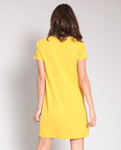 Abito t-shirt giallo