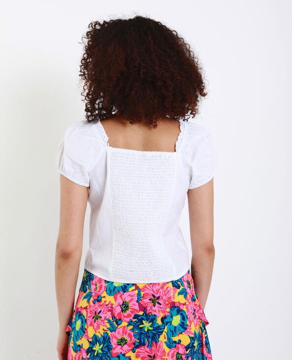 Camicia corta bianco