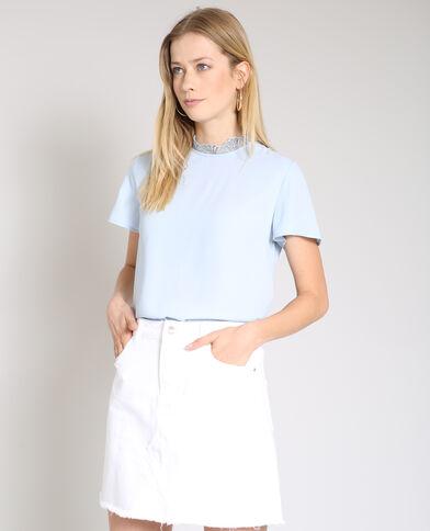 Blusa maniche corte blu