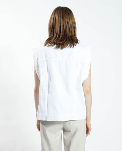 Giacca camicia di jeans bianco - Pimkie