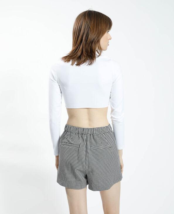 T-shirt cropped zen bianco - Pimkie