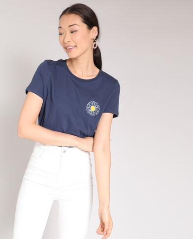 T-shirt margherita blu marino