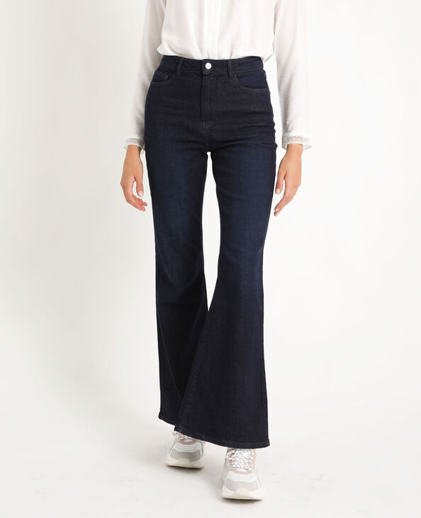 Jeans flare high waist blu scuro
