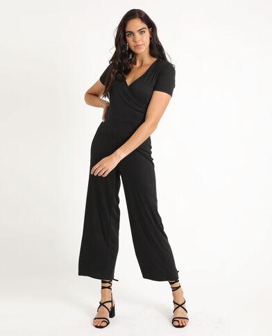 Abito pantalone con gamba larga nero