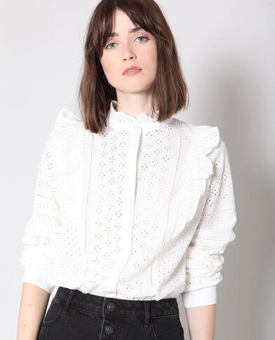 Camicia ricamata bianco