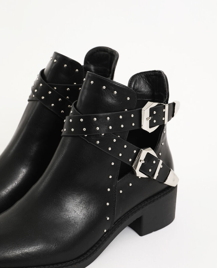Boots con borchie nero