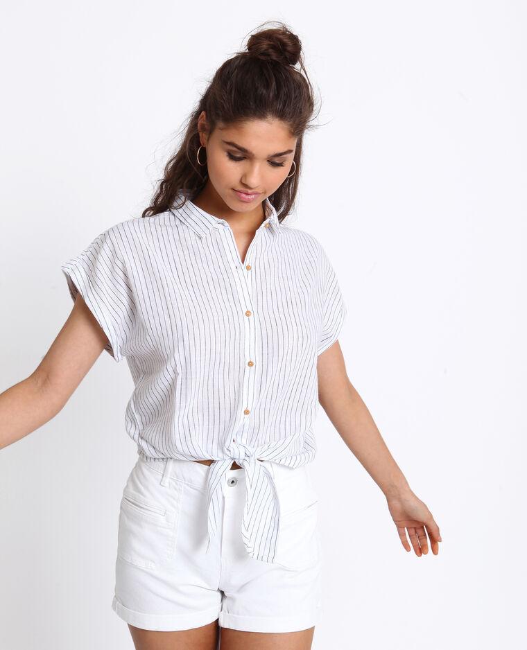 Camicia da annodare bianco sporco