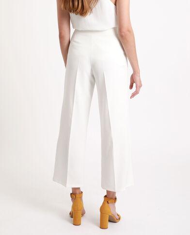 Pantalone con bottoni écru