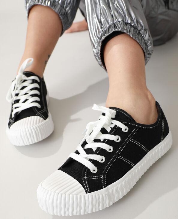 Scarpe da tennis in tela nero - Pimkie