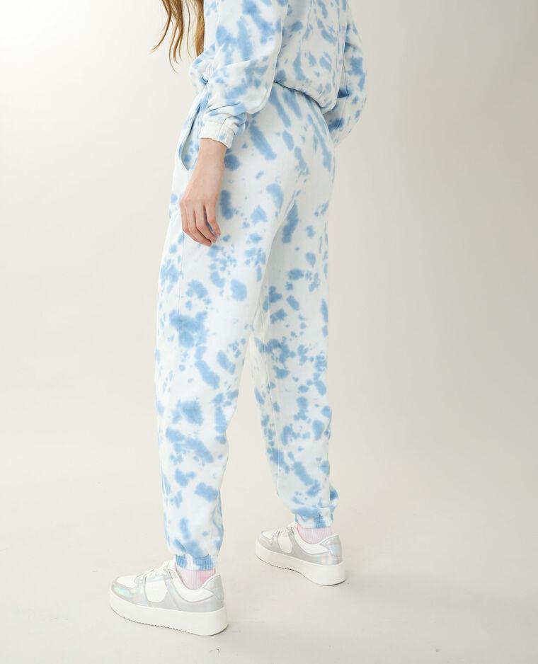 Pantalone da jogging tie and dye bianco