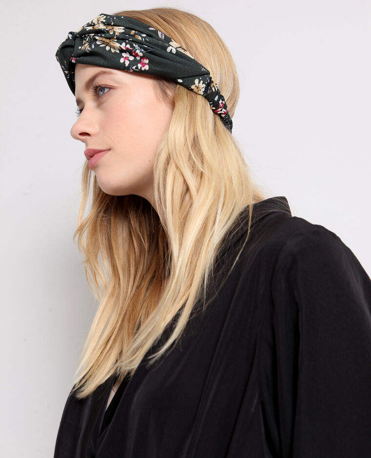 Headband a fiori verde