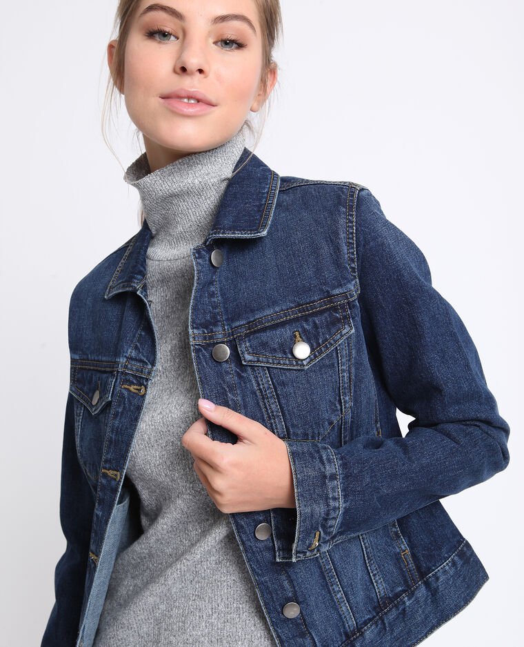 Giacca in jeans blu scuro