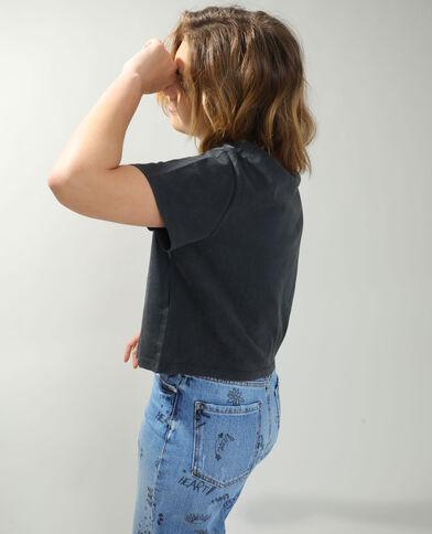 T-shirt cropped Topolino grigio antracite - Pimkie