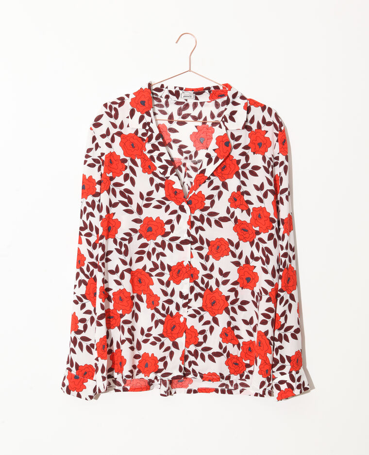 Camicia a fiori bianco