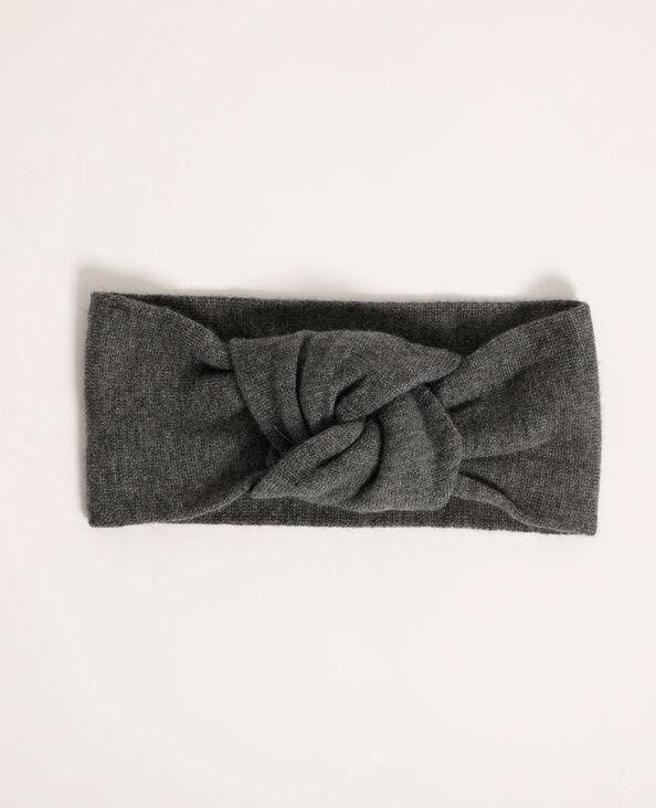 Fascia per capelli all'uncinetto grigio - Pimkie