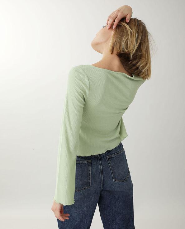Top a maniche lunghe verde