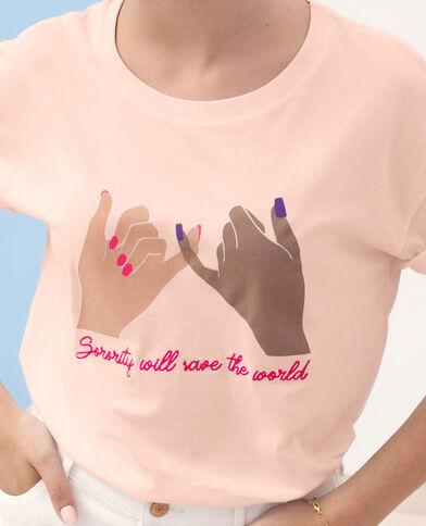 T-shirt Sorority rosa