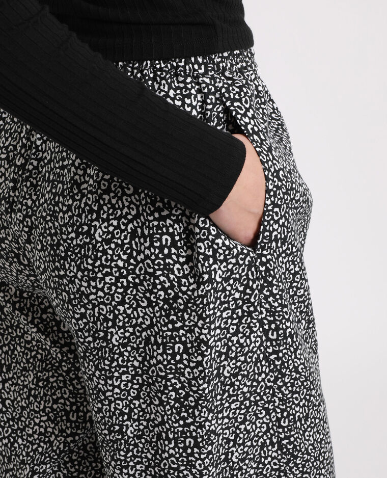 Pantalone morbido stampato bianco
