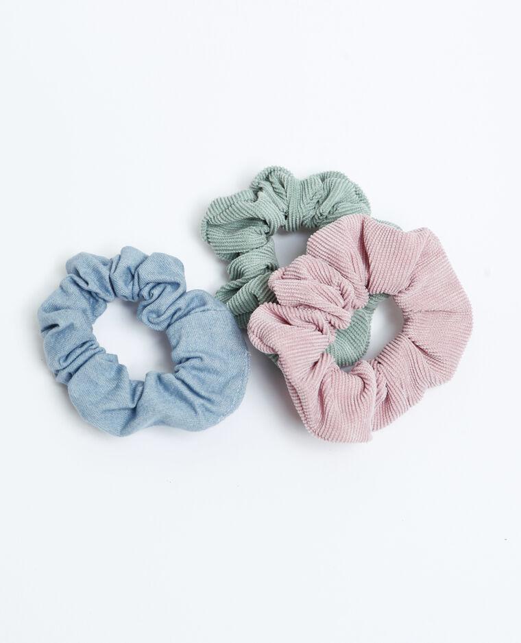 Lotto da 3 elastici per capelli rosa cipria
