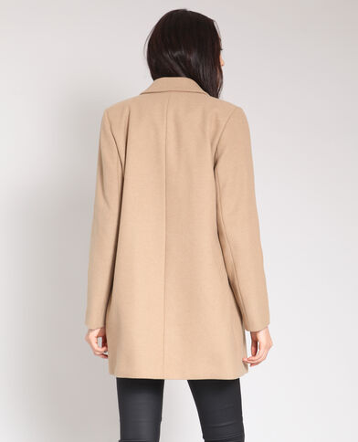 Cappotto in lana caramello