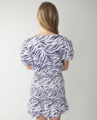 Abito zebrato con smock nero - Pimkie