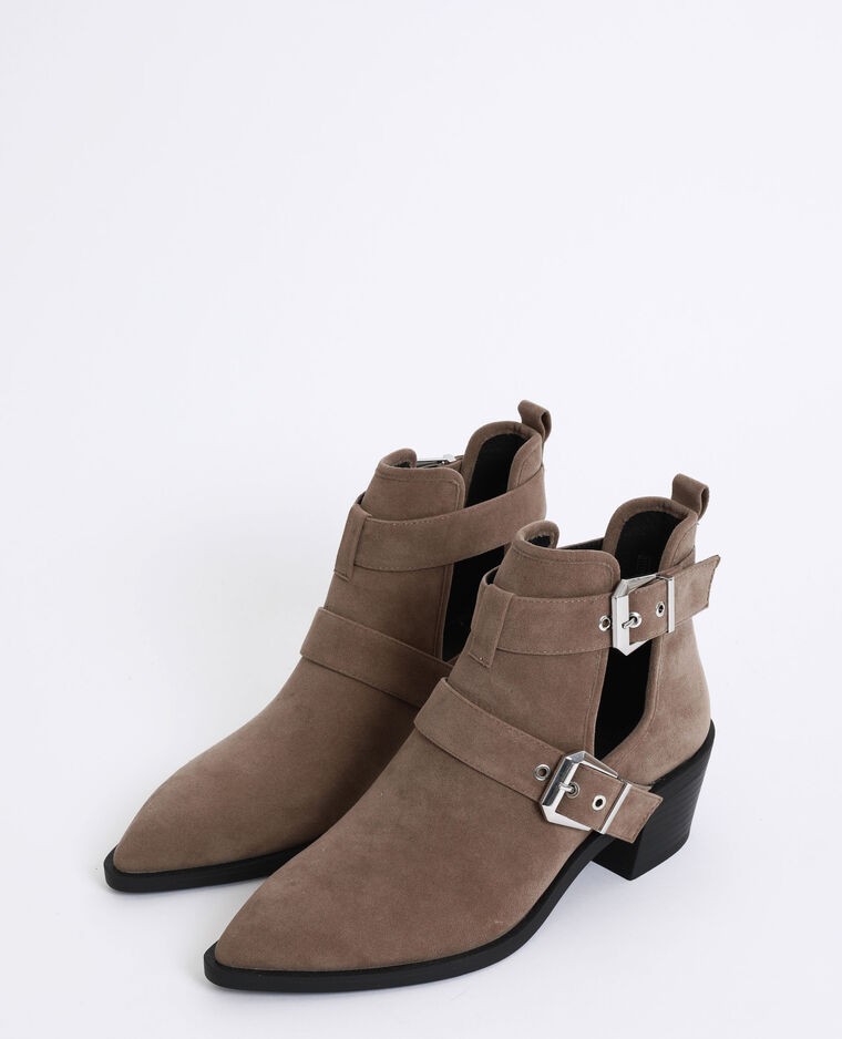 Stivaletti stile western marrone