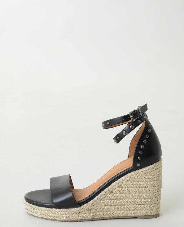 Sandali con zeppa e borchie nero - Pimkie