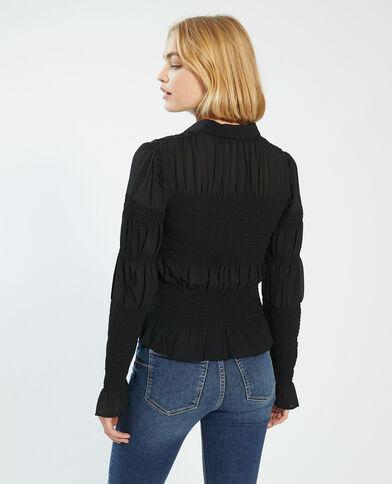 Camicia con smock nero - Pimkie