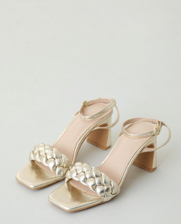 Sandali con tacco intrecciati dorato - Pimkie
