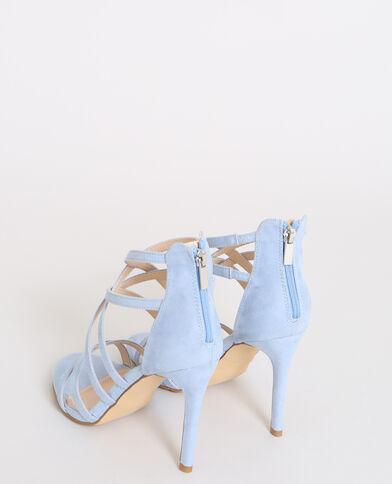 Sandali con tacchi a spillo acquamarina