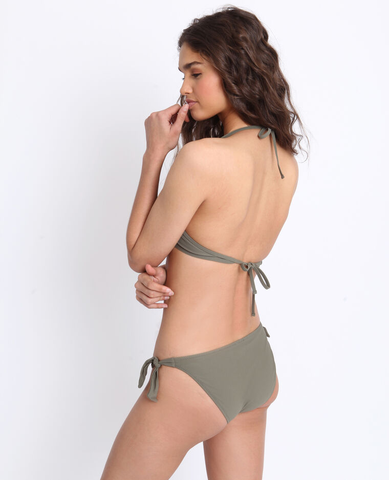 Pezzo sopra di bikini push up verde