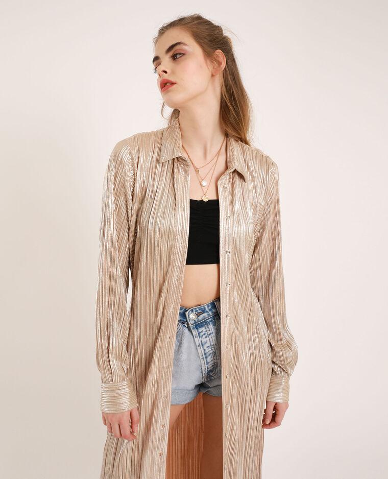 Camicia lunga plissettata dorato - Pimkie
