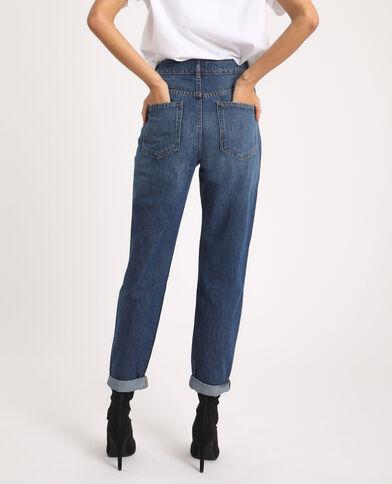 Jeans mom high waist blu