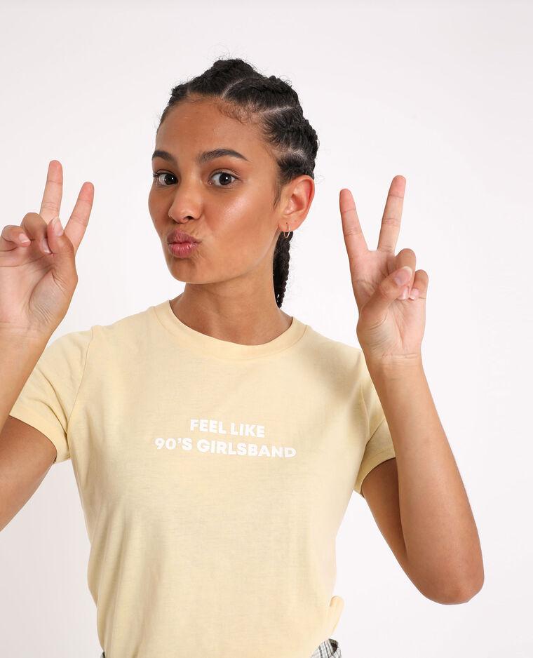 T-shirt basic giallo
