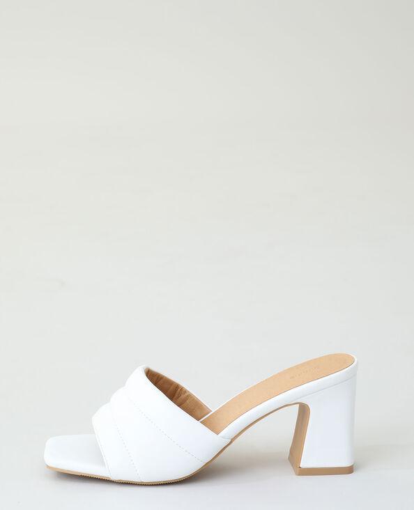 Sabot con tacco bianco - Pimkie
