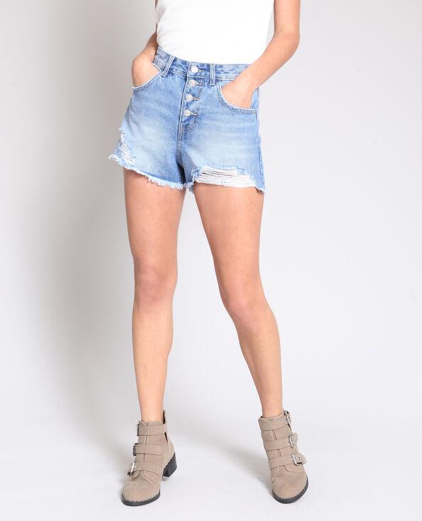 Short in jeans mom blu