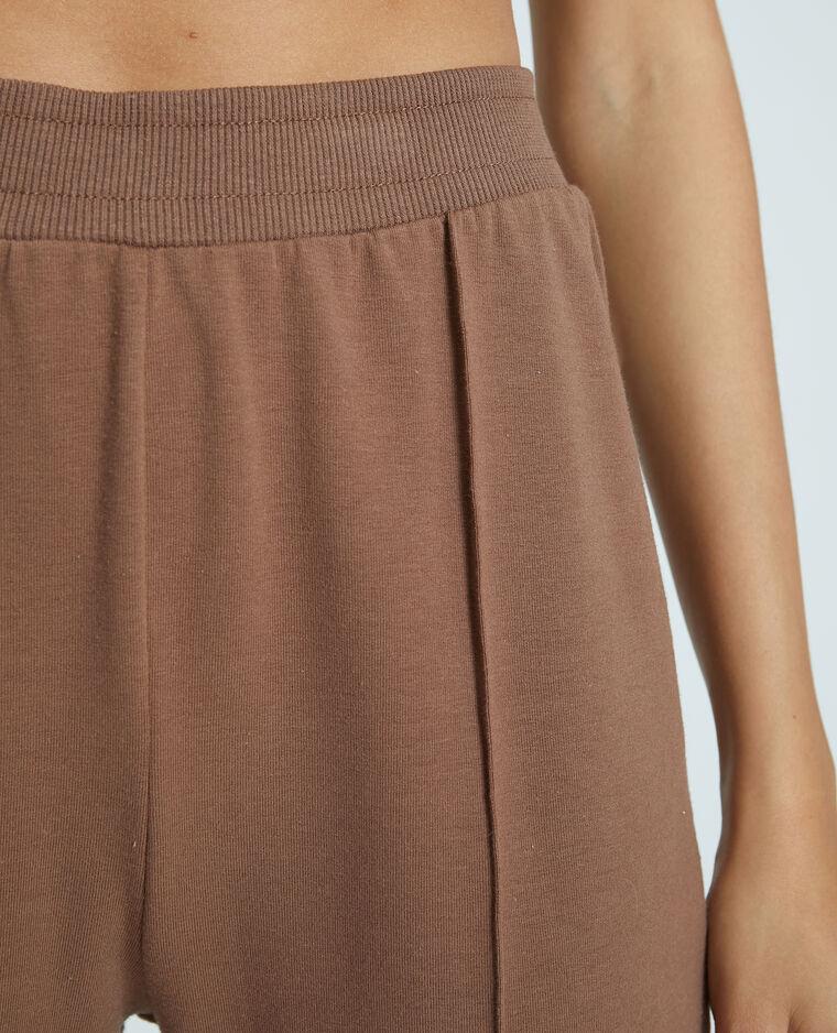 Pantalone in tessuto felpato marrone - Pimkie