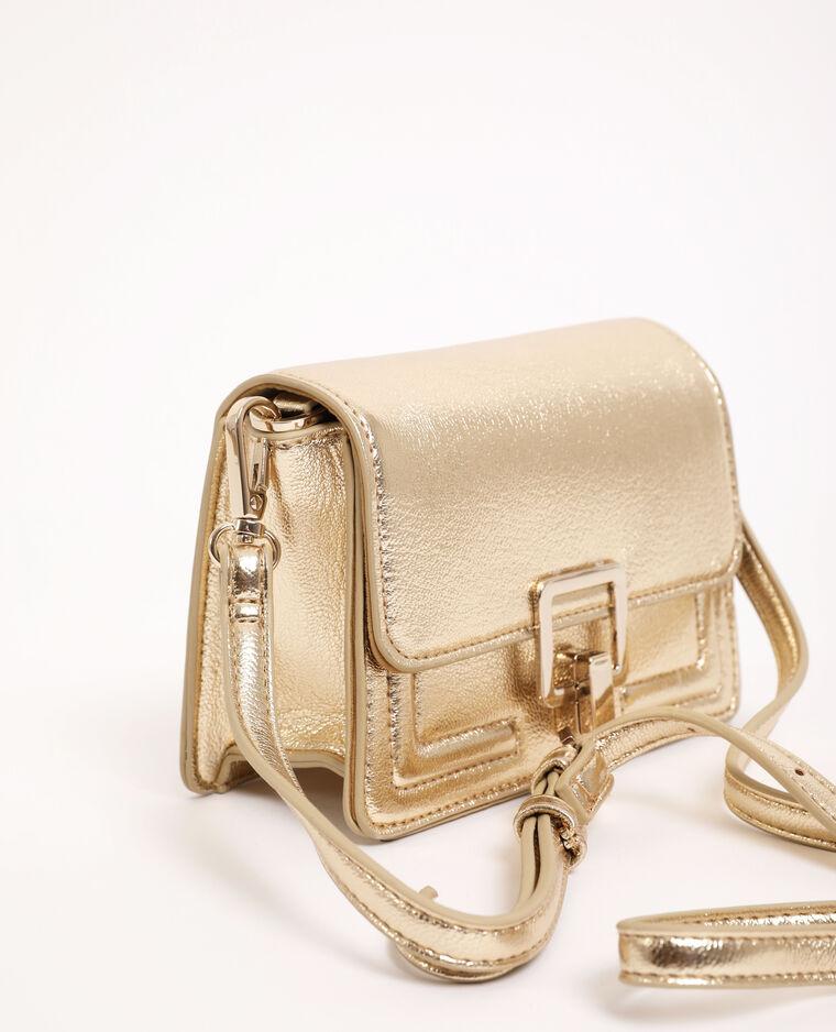 Mini borsa boxy dorato