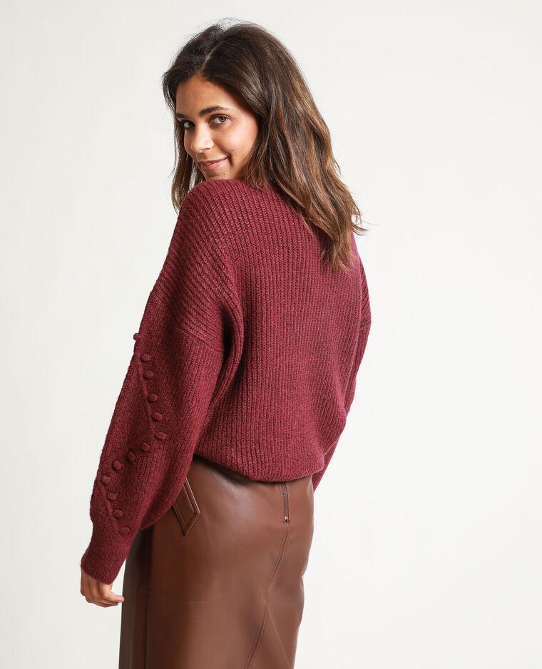 Pull maglia fantasia viola