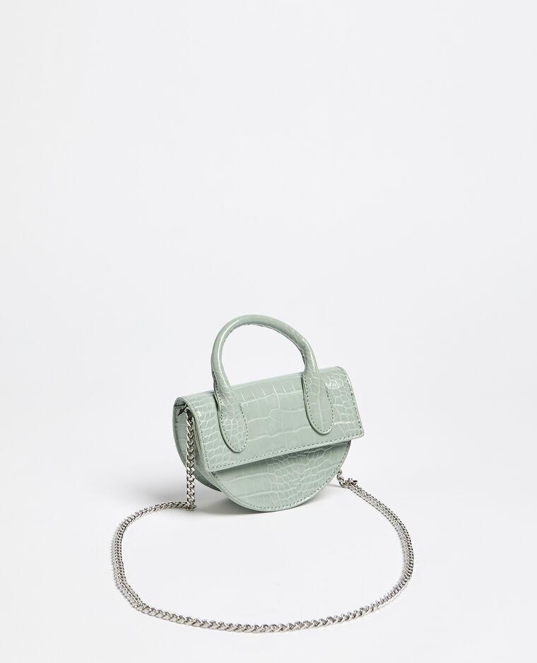 Mini borsa a mezzaluna verde