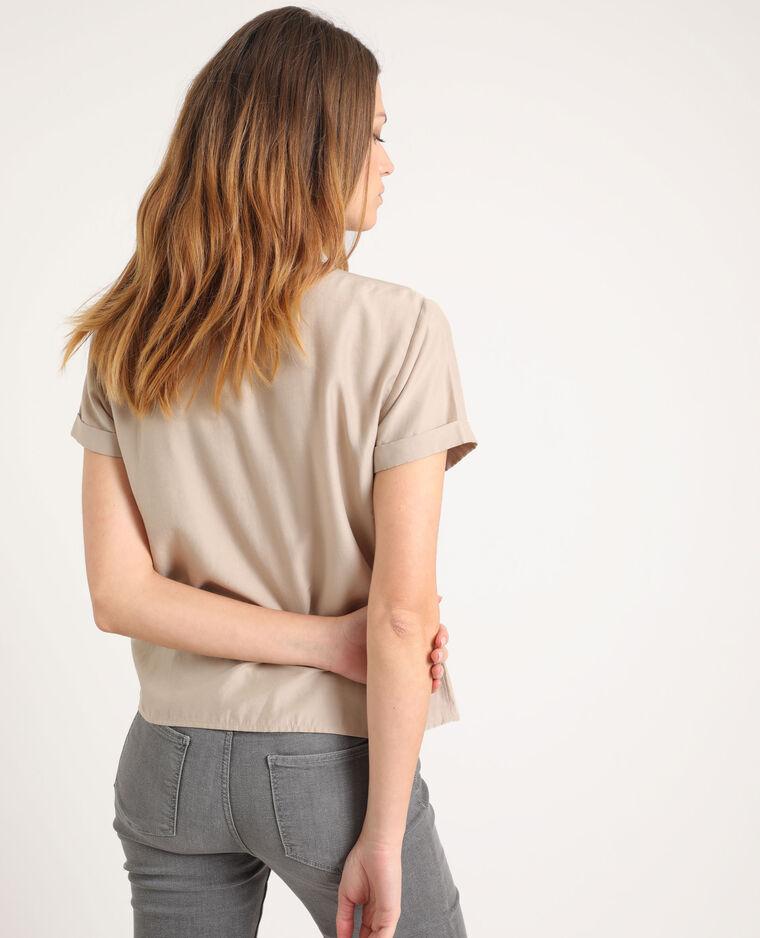 Camicia maniche corte marrone