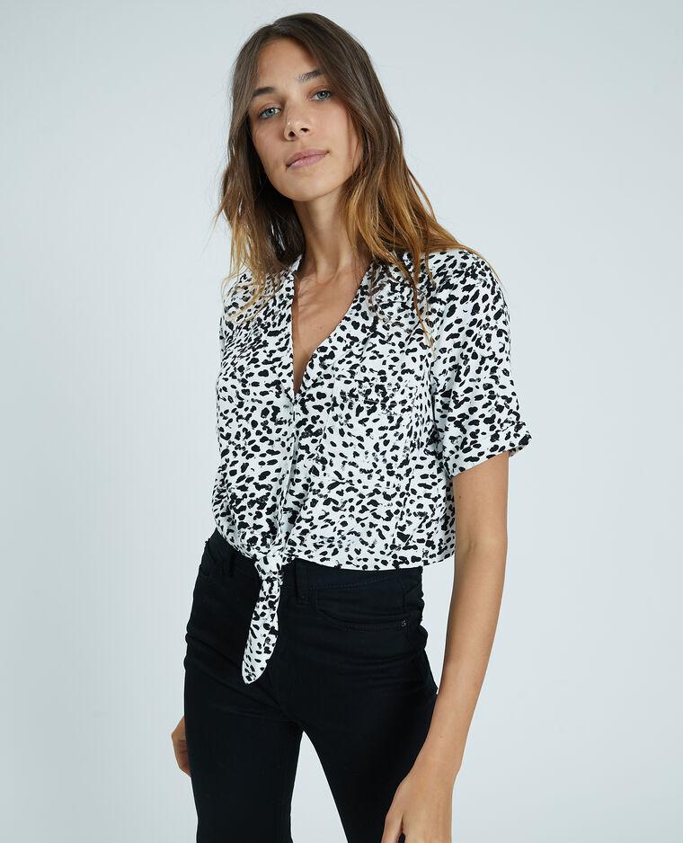 Camicia cropped bianco sporco - Pimkie