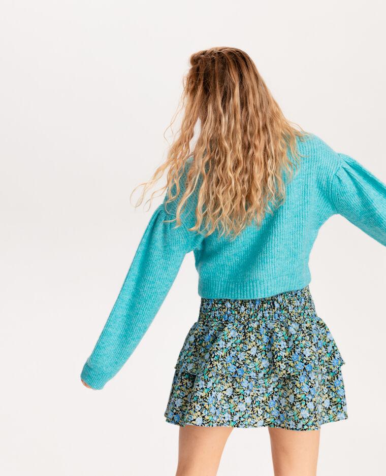 Pull corto in maglia spessa blu
