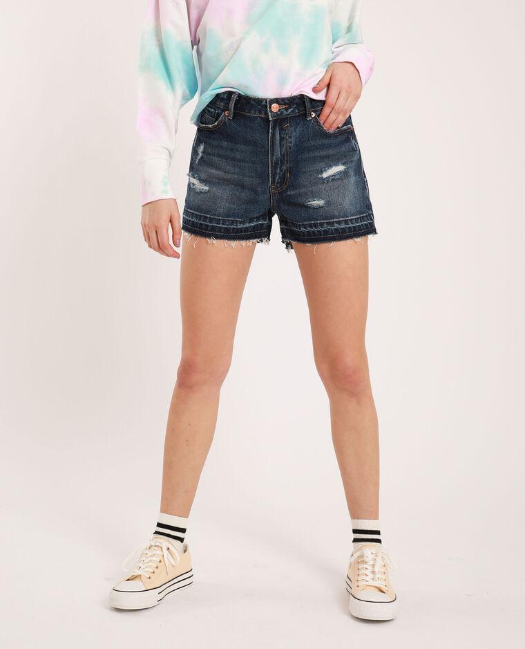 Short di jeans raw cut blu grezzo