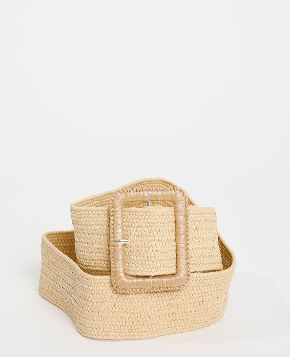 Cintura larga intrecciata beige - Pimkie