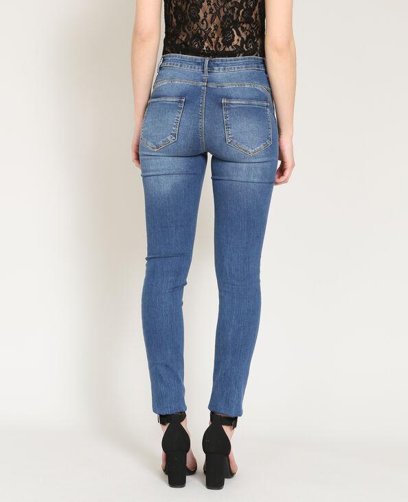Jeans push up blu denim