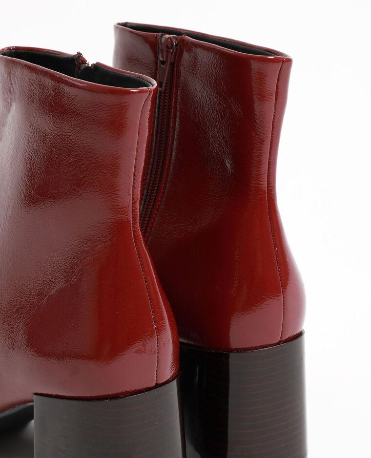 Stivaletti con tacchi vernice granata