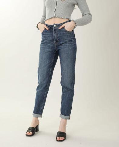 Jeans mom blu grezzo - Pimkie