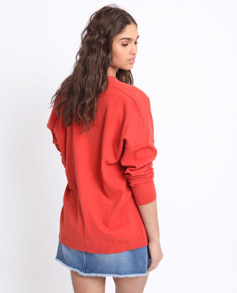 Cardigan ampio rosso