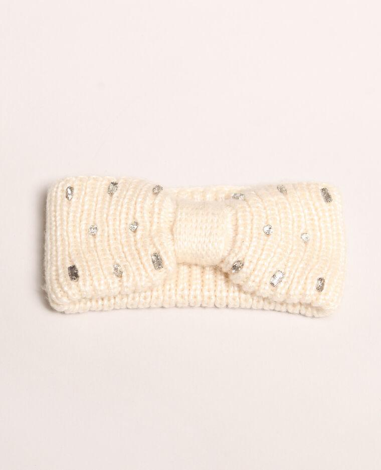 Headband con strass bianco
